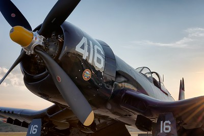 F4U at Sunset