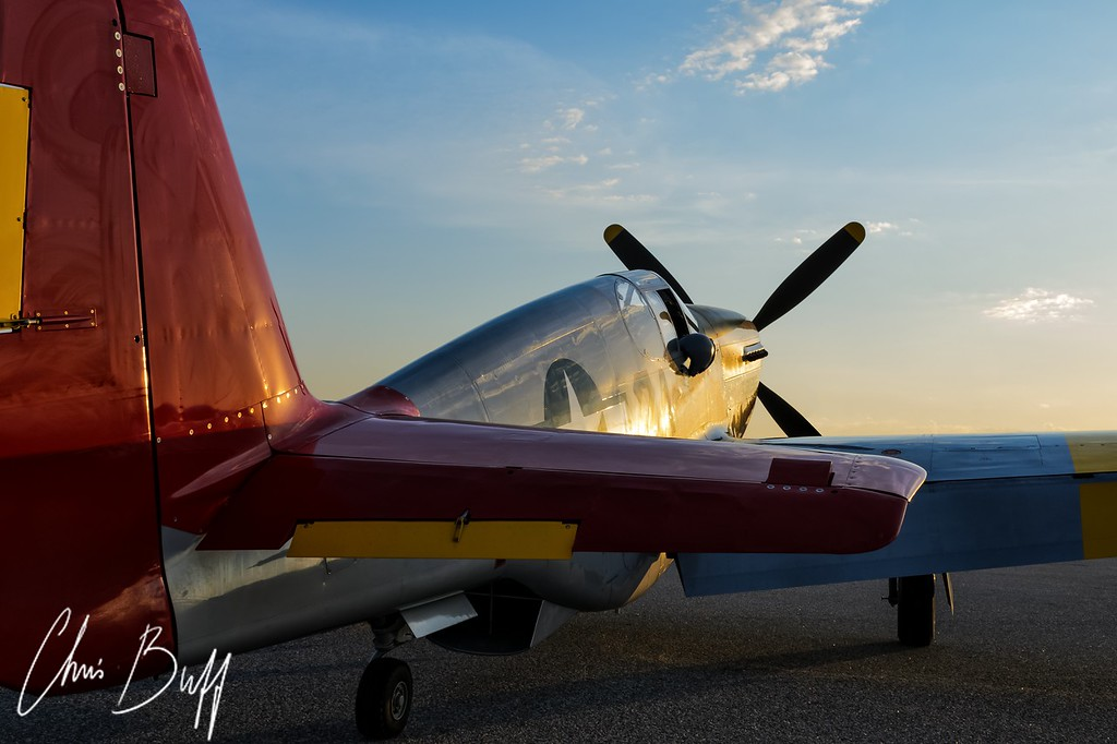 Red Tail Sunrise - Christopher Buff, www.Aviationbuff.com
