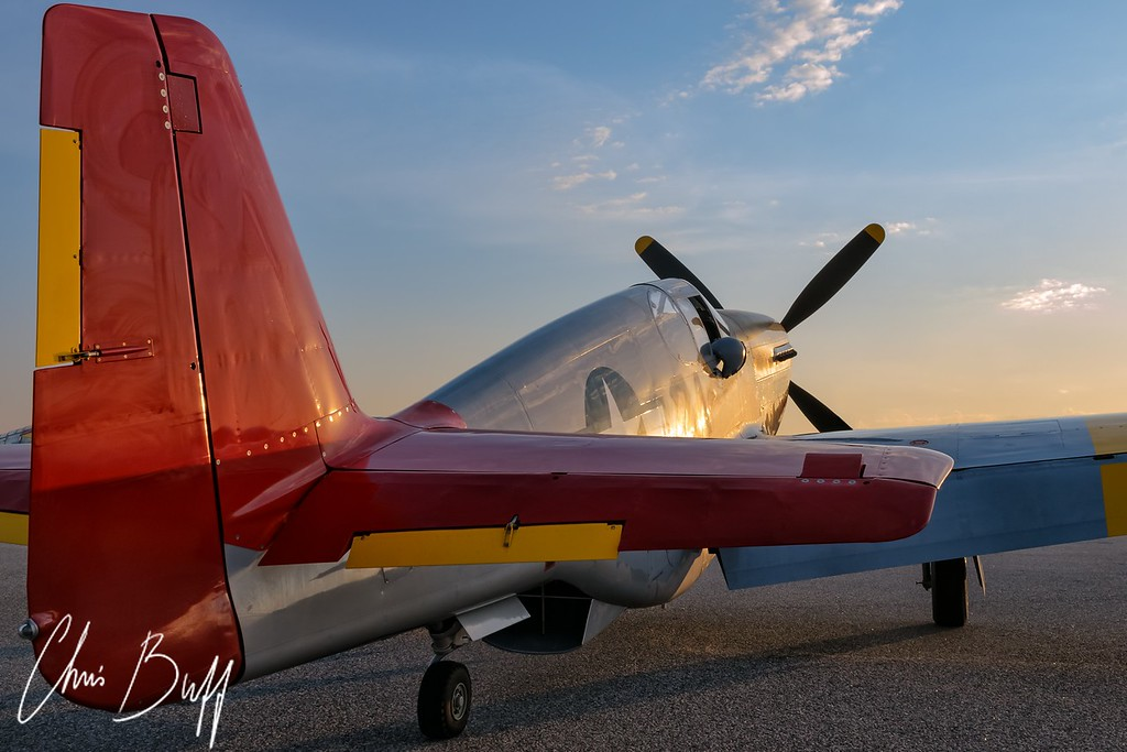 Warm Glow on a Red Tail - 2016 Christopher Buff, www.Aviationbuff.com