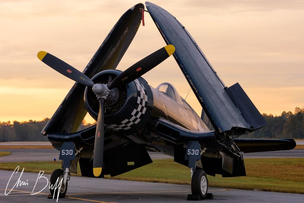 Corsair in the Morning - 2015 Christopher Buff, www.Aviationbuff.com