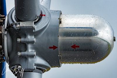 Propeller Hub and Rain Drops