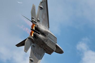 F-22 Turning and Burning