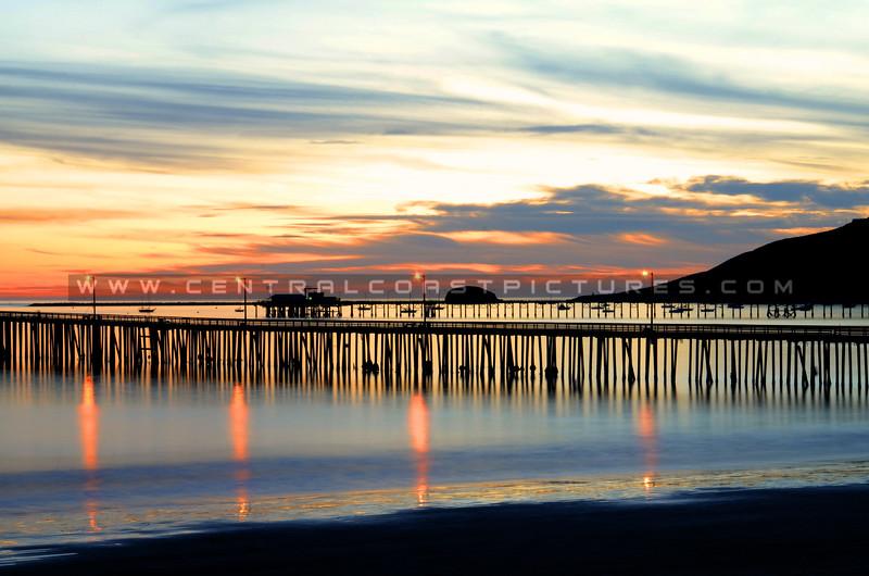 Avila Beach pier sunset