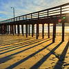 Avila Beach pier shadows