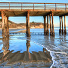 Avila Beach pier reflection