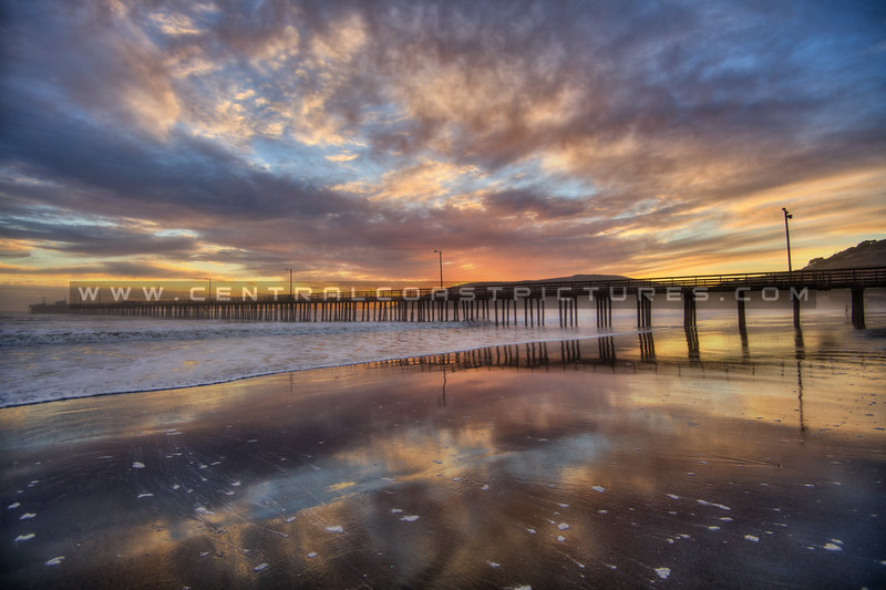 avila beach pier sunset 9724