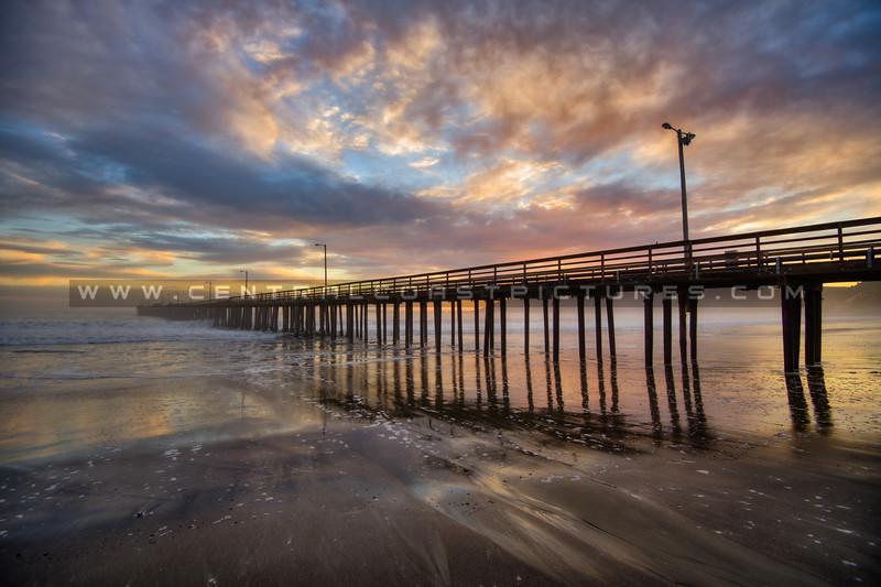 avila beach pier sunset 9720