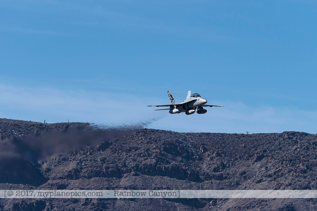 F20170201a121946_0315-F-18 Hornet-Strike Test-SD-No422-over Rainbow Canyon-settings-Air Test and Evaluation Squadron 23 VX-23