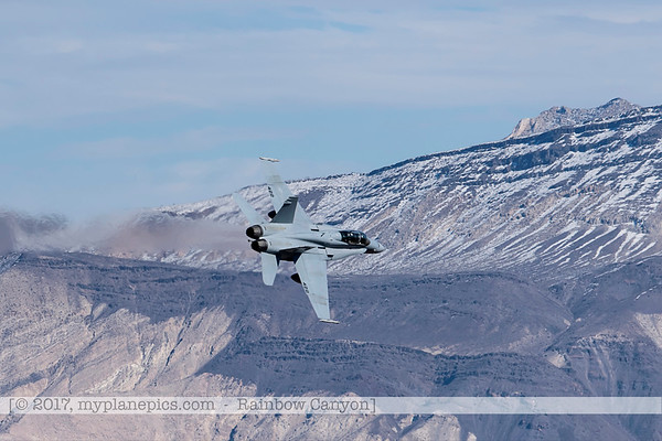 F20170201a122022_0334-F-18 Hornet-Strike Test-SD-No422-over Rainbow Canyon-Air Test and Evaluation Squadron 23 VX-23