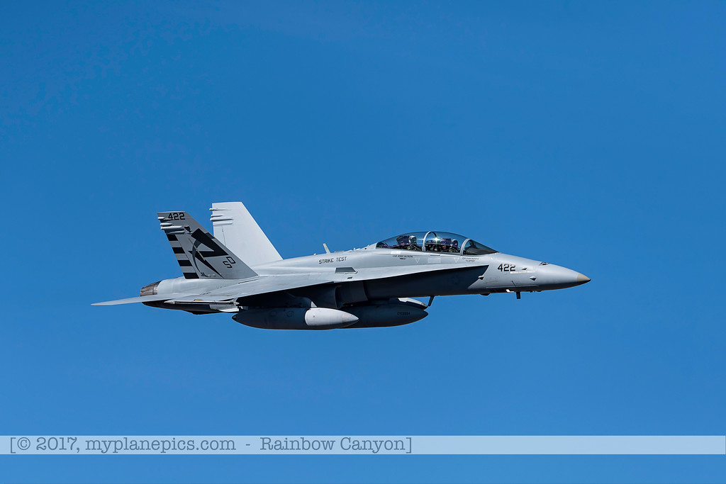 F20170201a122000_0323-F-18 Hornet-Strike Test-SD-No422-over Rainbow Canyon-Air Test and Evaluation Squadron 23 VX-23