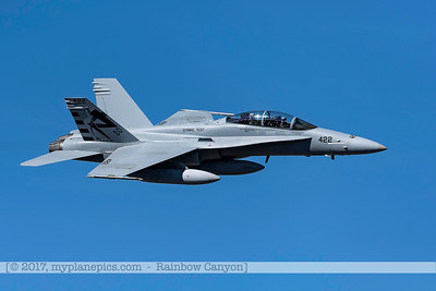 F20170201a122002_0324-F-18 Hornet-Strike Test-SD-No422-over Rainbow Canyon-Air Test and Evaluation Squadron 23 VX-23