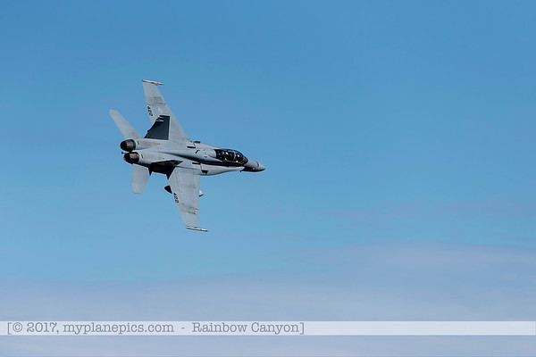 F20170201a122020_0333-F-18 Hornet-Strike Test-SD-No422-over Rainbow Canyon-Air Test and Evaluation Squadron 23 VX-23