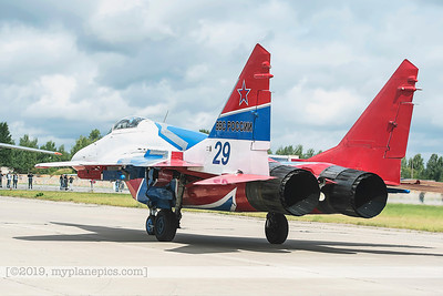 F20170826a112015_6988-MiG-29UB Fulcrum-Swifts-Strizhi-Russian Air Force-taxiing