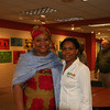 Leymah Gbowee poses with Women of the ELCA staff Valora Starr (right).
