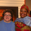 Women of the ELCA executive director Linda Post Bushkofsky (left) poses with Leymah Gbowee.