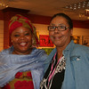 Leymah Gbowee (left) poses with Women of the ELCA staff Vanessa Davis.
