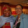 Leymah Gbowee (left) poses with Women of the ELCA staff Vanessa Davis.