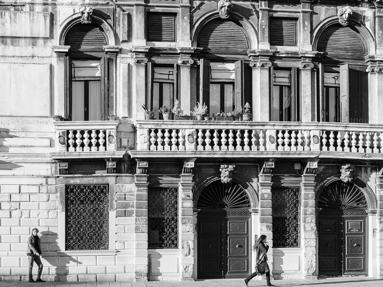 31/45 Façades sur Fondamenta Cannaregio, vue du vaporetto.