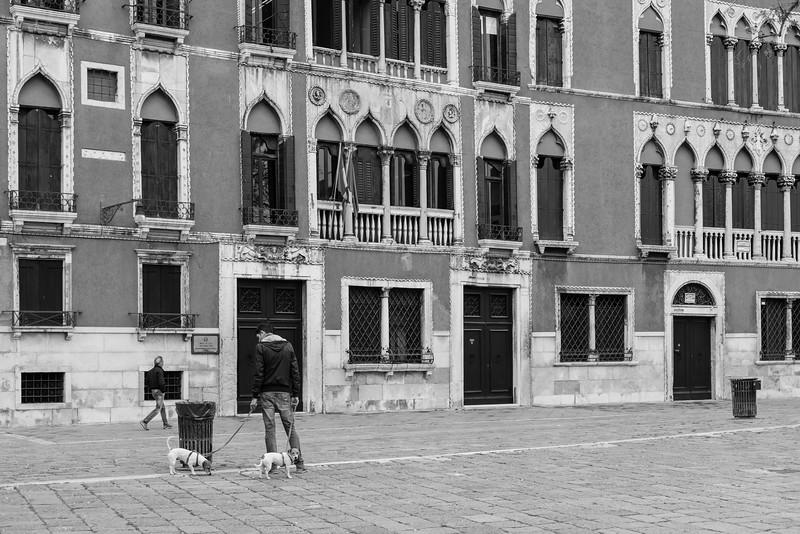 13/45 Scène de rue avec chiens sur Campo San Polo.