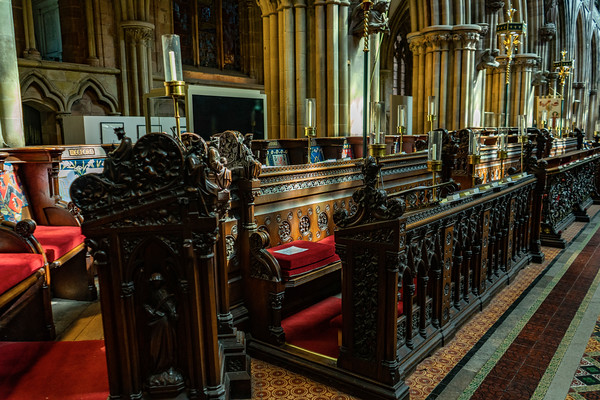 the choir stalls in the Quire