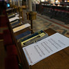 Quire  (choir) stalls and sheet music
