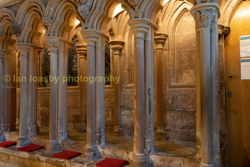 Cushions &arches in the vestibule