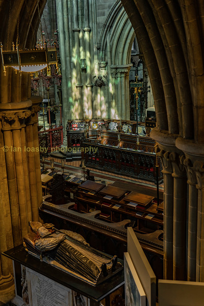 The quire as seen from above in St.Chads head Chapel.
