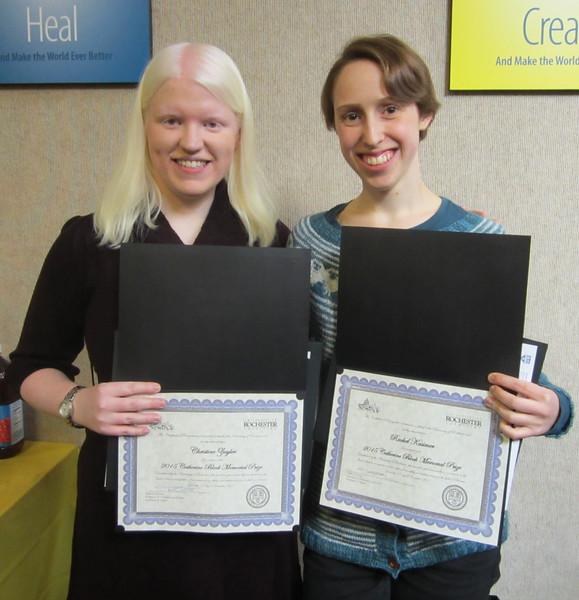 Catherine Block Award Recipients: Christine Ziegler & Rachel Kasimer