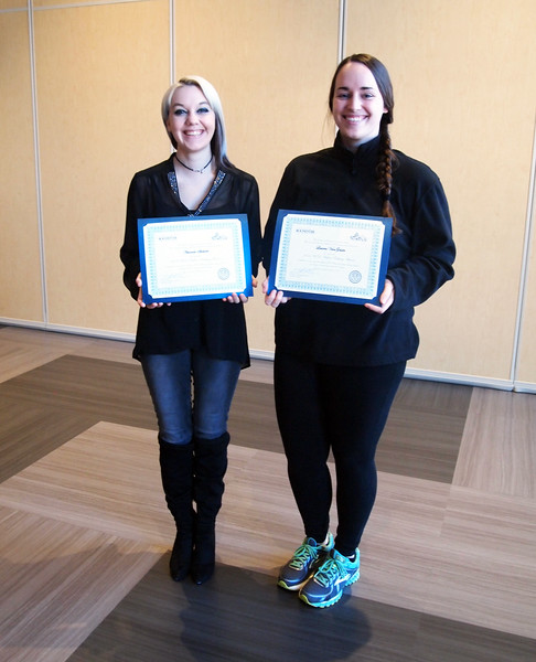 2015-2016 W.D. Walters Teaching Award Recipients: Justin Niziol (not pictured), Amanda Spiewak, & Lauren VanGelder<br /> <br /> The W.D. Walters Teaching Award recognizes outstanding undergraduate teaching by graduate teaching assistants. This award memorializes the late Professor W.D. Walters and the standards of excellence and achievement exemplified by him. It also recognizes our appreciation for the commitment and achievements of the awardees and consists of a certificate and cash prize.