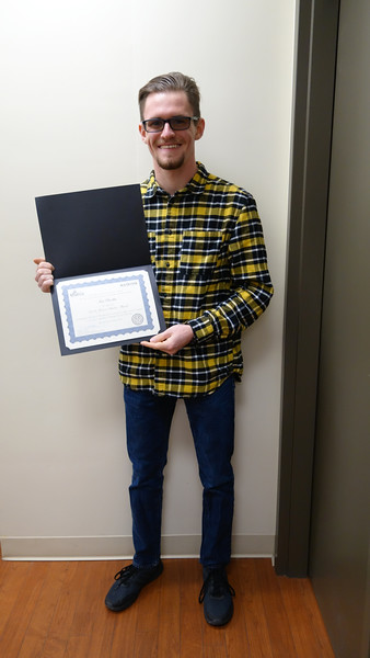 2017-2018 Scholar Award for Juniors Recipients: <br /> Allison Stanko, Nicholas Lim, Robert Scappaticci, Marco Caiola, Andrew Lee, Patrick Forrestel, Ian Brodka (pictured)<br /> <br /> This award recognizes undergraduate students who in their junior year showed outstanding accomplishment and promise for a professional career in chemistry.  The award consists of a certificate and cash prize.
