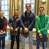 2017-2018 W.D. Walters Teaching Award Recipients:<br /> Emily Edwards, David Vargas, Georgios Alachouzos, Trevor Tumiel, Andrew Kauffman (not pictured)<br /> <br /> The W.D. Walters Teaching Award recognizes outstanding undergraduate teaching by graduate teaching assistants. This award memorializes the late Professor W.D. Walters and the standards of excellence and achievement exemplified by him. It also recognizes our appreciation for the commitment and achievements of the awardees and consists of a certificate and cash prize.