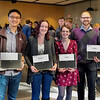 2019 W.D Walters Teaching Award recipients (Left to Right):<br /> Albert Nam,  Brittany Abraham, Elena Quigley, and David Brewster<br /> <br /> The W.D. Walters Teaching Award recognizes outstanding undergraduate teaching by graduate teaching assistants. This award memorializes the late Professor W.D. Walters and the standards of excellence and achievement exemplified by him. It also recognizes our appreciation for the commitment and achievements of the awardees and consists of a certificate and cash prize.
