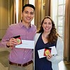 2019 Outstanding Graduate Award recipients (Left to Right): <br /> Antonio Tinoco Valencia and Brittany Petel<br /> <br /> The Outstanding Graduate Student Award was established at the request of an alumnus who wanted to recognize excellence in research, leadership, and service by a senior graduate student. Winners will show not only a passion for learning and a steadfast diligence in the research lab, but also a dedication to teaching and mentoring, and a commitment to helping his/her community. The award consists of a medal, a cash prize and the winner's name on a plaque to be placed in the Chemistry Department Office.
