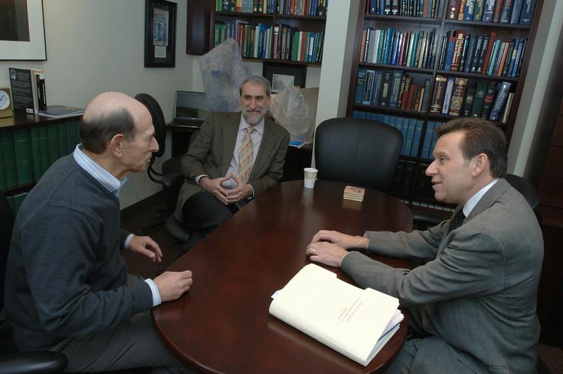Richard Eisenberg, Tracy H. Harris Professor of Chemistry, Ralph kuncl, Provost, Daniel Nocera