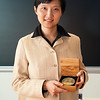 The Second Magomedov-Shcherbinina Memorial Prize and Lectureship<br /> November 9th, 2010<br /> 3:30 PM<br /> Hutchison Hall, Lander Auditorium<br /> <br /> Awardee: Xiaowei Zhuang<br /> <br /> Lecture Title: Nanoscopic imaging of biomolecules and cells<br /> <br /> Lecture Abstract: Optical microscopy is an essential tool in biological research. However, the spatial resolution of optical microscopy, classically limited by the diffraction of light to several hundred nanometers, is substantially larger than typical molecular length scales in cells, leaving many biological problems beyond our reach. To overcome this limit, we have developed a new form of super-resolution light microscopy, stochastic optical reconstruction microscopy (STORM). STORM uses single-molecule imaging and photo-switchable fluorescent probes to temporally separate the spatially overlapping images of individual molecules. This approach allows the localization of fluorescent probes with nanometer precision and the construction of super-resolution images. Using this concept, we have achieved multicolor and three-dimensional (3D) imaging of molecular complexes, cells and tissues with nanometer scale resolution. In this talk, I will discuss the general concept, recent technical advances and various biological applications of STORM.<br /> <br /> Awardee Biography: Xiaowei Zhuang is the Professor of Chemistry and Chemical Biology and Professor of Physics at Harvard University, and an investigator at Howard Hughes Medical Institute. Zhuang is a leading expert in single-molecule biology and bioimaging. Her lab develops and applies advanced optical imaging techniques, such as super-resolution light microscopy and single-molecule imaging approaches to study biological systems quantitatively. Zhuang received her B.S. degree in Physics from the University of Science and Technology of China, and her Ph.D. Degree in Physics from University of California at Berkeley. In 2001, she joined the faculty of Harvard 