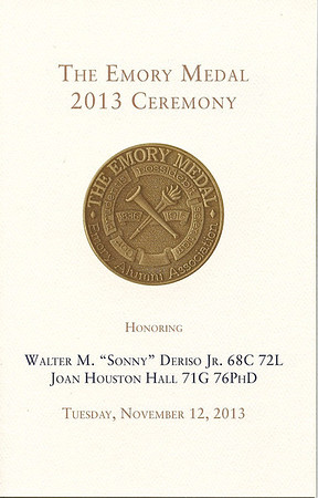 2013 Emory Medal Ceremony - 11.12.13