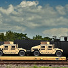 Humvees en route to Middle East