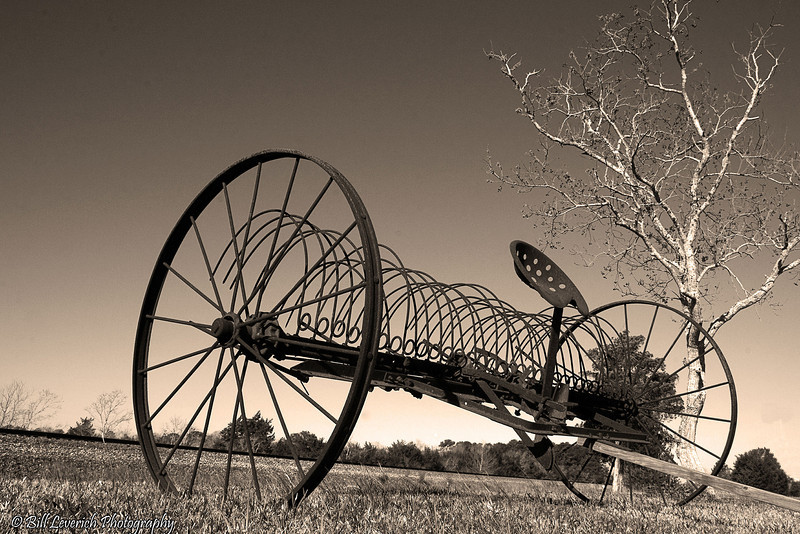 Abandoned hay rake