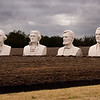 Presidents by sculptor David Adickes. From 16 to 20 feet tall, these giant busts were temporarily on display in Pearland TX, 2008