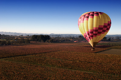 Floating over Sonoma