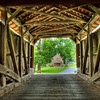 Inside the Pool Forge-Wimer Covered Bridge in Lancaster County PA