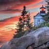 Acadia - Sunset at Bass Harbor Lighthouse