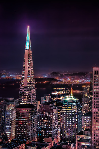 "Transamerica at Night with Skyline - Augen 2013<br> <a href=""http://www.capricemag.com/"">Published in Caprice Magazine July 2013</a>"