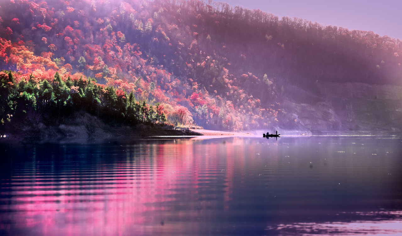 "Autumn Fishing at Lake Moomaw - Augen 2011<br> <a href=""http://www.digitalartscalifornia.com/?p=3568"">Exhibited in Digital Arts California: True Colors Two 2013</a>"