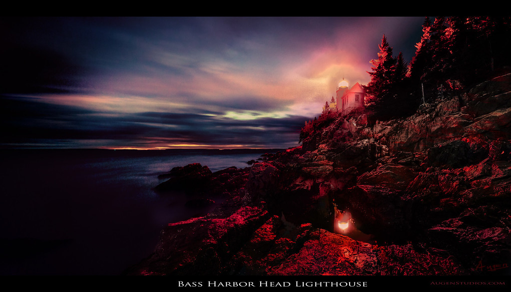 "Bass Harbor Head Lighthouse - Augen 2012<br> <a href=""http://www.digitalartscalifornia.com/?p=3568"">Exhibited in Digital Arts California: True Colors Two 2013</a>"