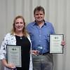 Tom Bradley Award winners - Jessica & Anton Mauve