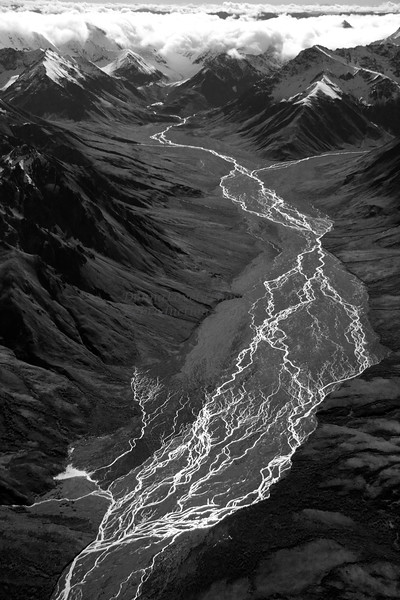 """Electric"" River, Denali, Alaska from the air in<br /> 2012 20th Annual Phillps' Mills Photographic Exhibition<br /> Used for the poster!"