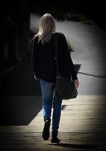 Woman on Wharf