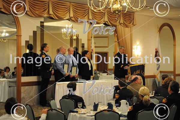 Aurora Exchange Club 2010 Police Officer of the Year Award to Aurora Police Officer Matt Bonnie at Gaslite Manor in Aurora, IL 5-17-11