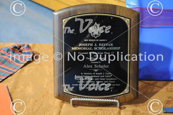 Aurora, IL Boy Scout Troop 57 Eagle Award to Alex Schuler at St. Joseph Church 8-19-12